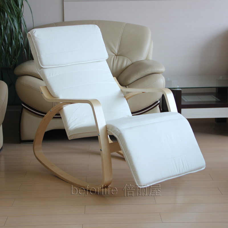 Ikea Style Rocking Chair Recliner Armchair Happy Single Chair Lounge Chair  Y 007   Recliner Chairs
