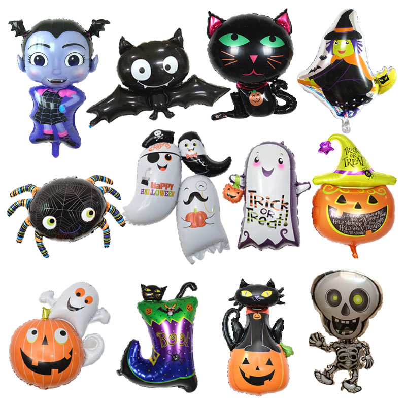 Halloween  Foil Balloons Halloween Decorations Balls Party Classic Toys Halloween Balloons Event Party Supplies Cartoon Hat
