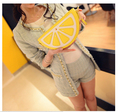 Cartoon fruit bag lemon 2017 watermelon bag fresh small chain small bag one shoulder cross-body women's handbag