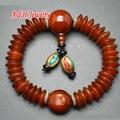 High Quality Ancient Disc Red Agate Nepal Charms Beads Tibetan Wrist Malas Buddhist Prayer Bracelets For Men Jewelry 5pc/lot