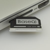 BASEQI Aluminum MicroSD Adapter For MacBook Pro 15 Retina Late 2013 Onwards