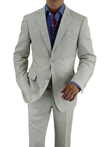 2017 Light Gray Linen Man Suit For Beach Wedding 2 Piece Groom Tuxedos Mens Prom Party Suits Casual Blazer Terno Best Man Wear