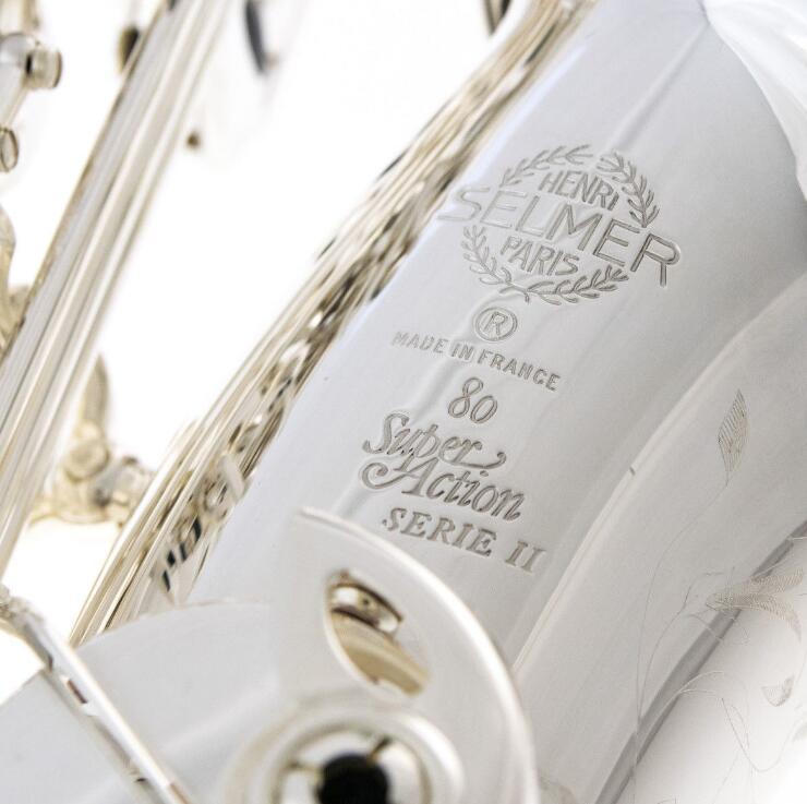 Nuevo Chapado en plata SELMER saxofón Alto SA 80 II 802 Jubileo modelo 52-libre de barcos en todo el mundo