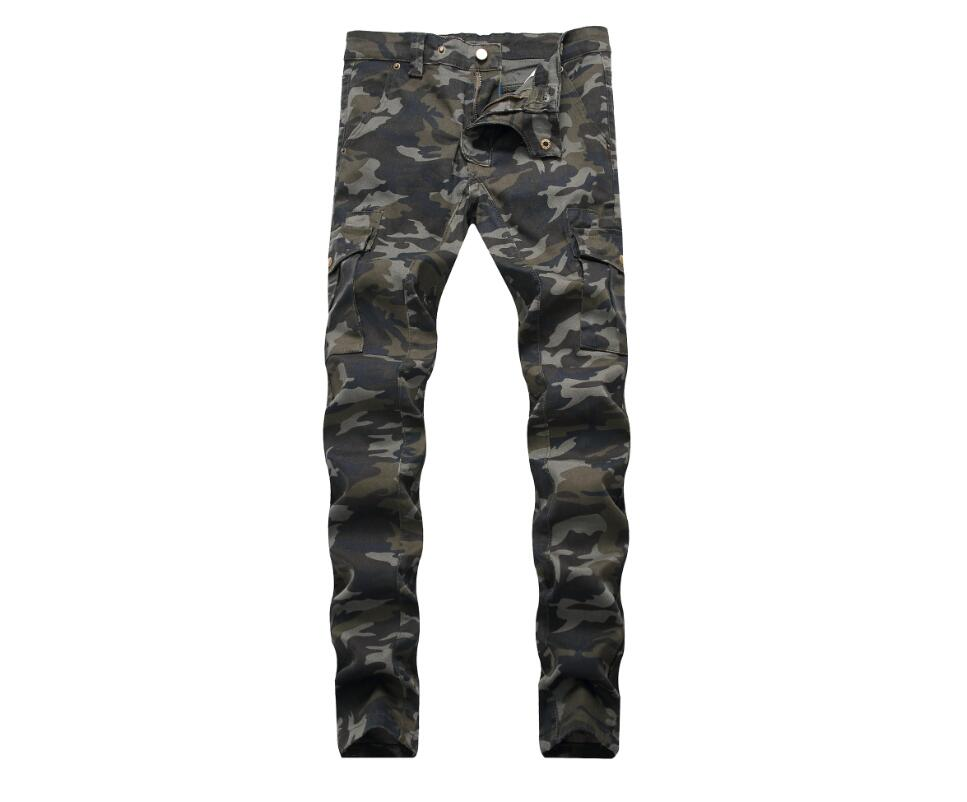 Fashionable Top Quality Men Camouflage Jeans Popular Discount Cheap Full Length