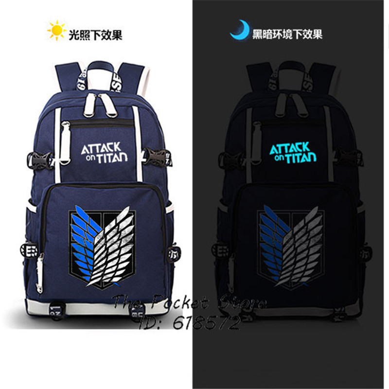 New Attack on Titan Scout Regiment/Scout Legion Luminous Printing Backpack Anime School Bags Mochila Feminina Laptop Backpack sosw fashion anime theme death note cosplay notebook new school large writing journal 20 5cm 14 5cm