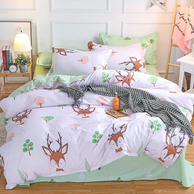 KELUO Home Textile 3/4pcs King Size Fox Bedding Sets Duvet