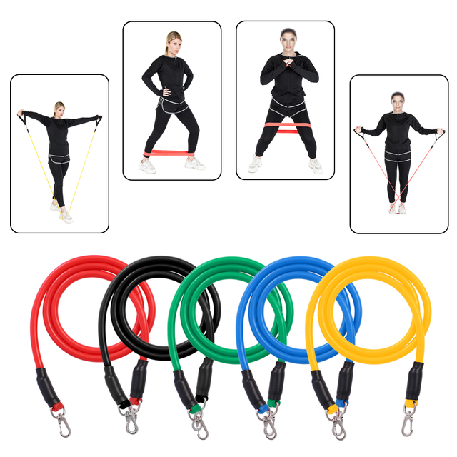 15PCS Multi-function pull rope Resistance Loop Band Natural Latex Fitness