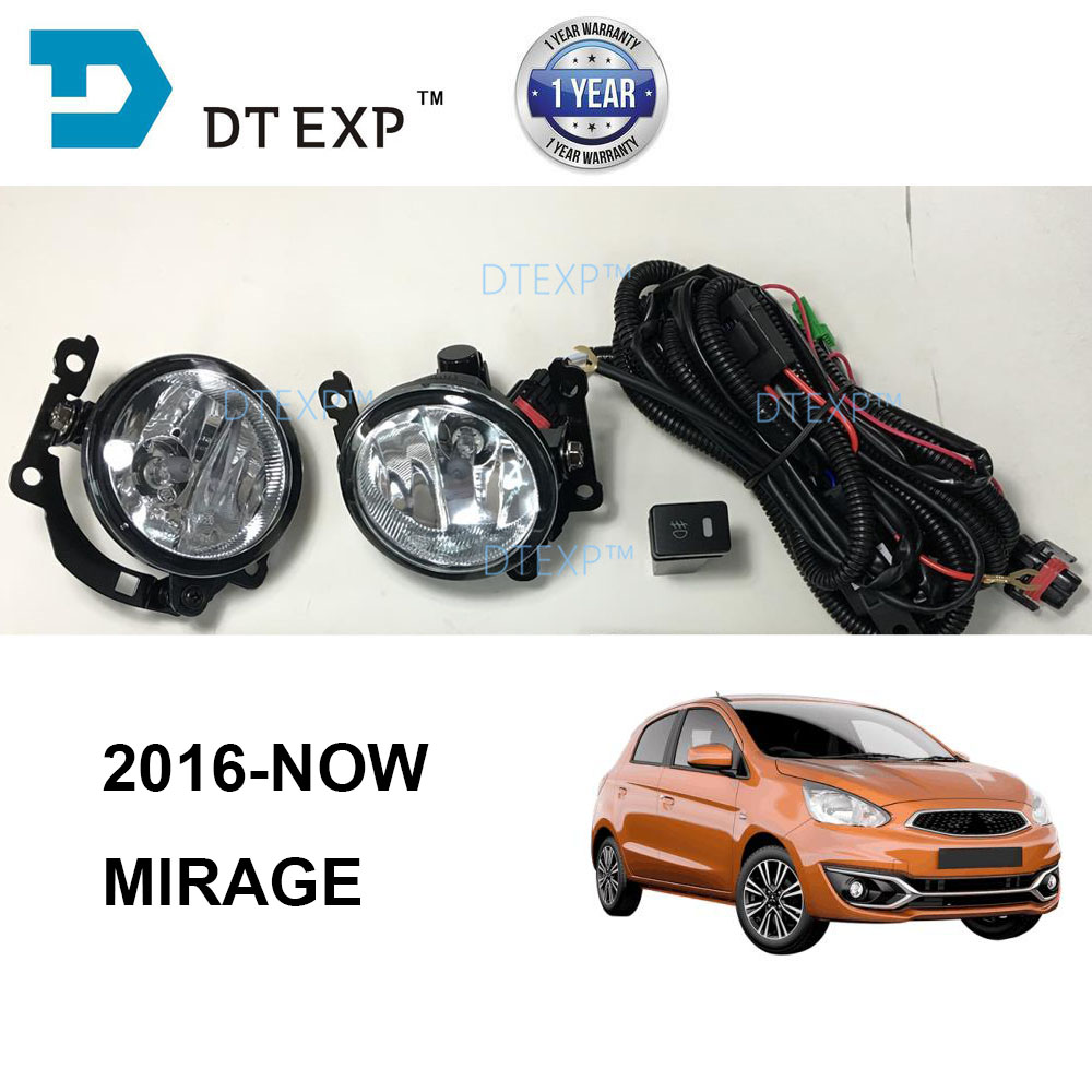 2016 2017 2018 2019 MIRAGE fog lamp SET with bulb WIRE AND SWITCH ATTRAGE FOG LAMP SET CHOOSE BASED ON PICTURE цены онлайн