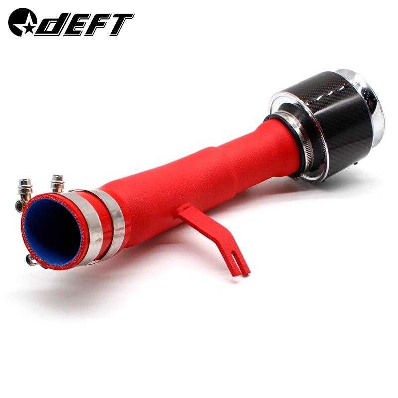 Car Air Intake Pipe For Honda Ten Generation Civic Intake Pipe Red Aluminum Tube Carbon Fiber Intake Mushroom Head Kit SK CUSTOM in Air Intakes from Automobiles Motorcycles