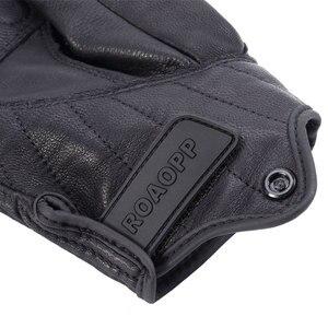 Image 5 - ROAOPP Retro Pursuit Real Leather Motorcycle Gloves Touch Screen Men Women Motocross Waterproof Electric Bike Gloves Moto Glove