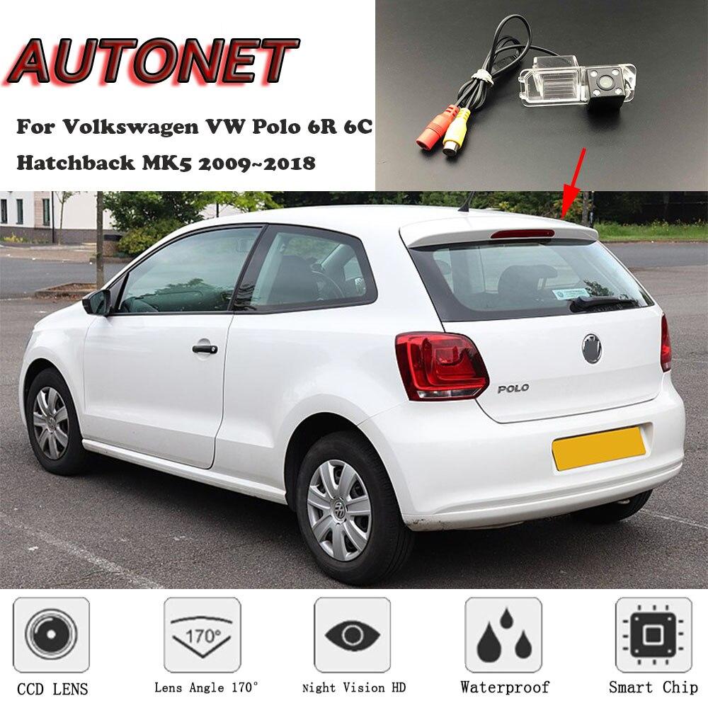 AUTONET резервная камера заднего вида для Volkswagen VW Polo 6R 6C хэтчбек MK5 2009~ /камера номерного знака/камера парковки