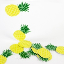 Hanging Banner Summer Party Decorations 1set Pineapple Fruit Paper Garland For Tropical Hawaii Birthday Beach Pool Decor