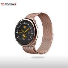 Смарт часы ZeRound2HR Elite цвет розовое золото, миланский сетчатый браслет цвет розовое золото