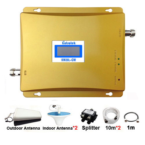 2019 Sale Signal Amplifier 3G Signal Amplifier Newest Dual Band Repeater GSM900+WCDMA2100 3G 900/2100mhz Booster Luxury Suite#20