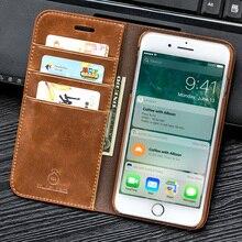Musubo Натуральная кожа флип чехол для iPhone 8 плюс 7 Plus Роскошный кошелек Встроенная крышка для iPhone X 6 6s 5 5S SE случаях чехол
