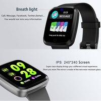 2018Orginal Smart Bracelet With Matel CNC Alloy Case Color Screen Wristband Blood Pressure Oxygen Measure Waterproof Smart Watch