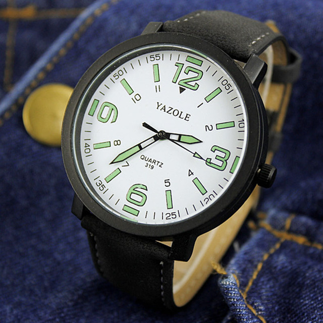 2018 Luminous Watch Men YAZOLE Brand Luxury Fashion Sports Watches Male Clock Quartz Watch Hour Montre Homme relogio masculino