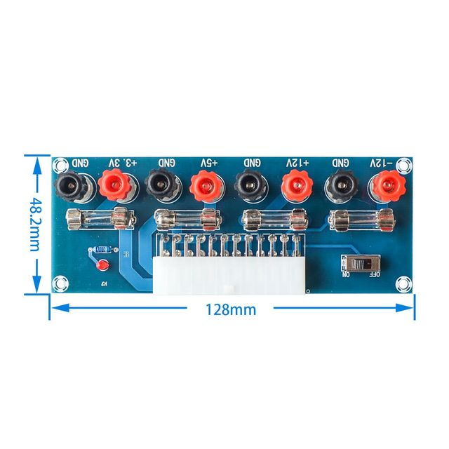 XH M229 Desktop Computer Chassis Power Supply ATX Transfer Board Power Take off Board Power Output Terminal Module
