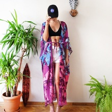 Beach Cover Up Floral Embroidery Bikini Swimwear Women Swimsuit Pareo