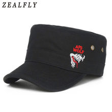 Unisex de alta calidad de algodón bordado gorra de béisbol al aire libre  ocasional del sol sombreros planos para las mujeres aju. 4eb383ec98b