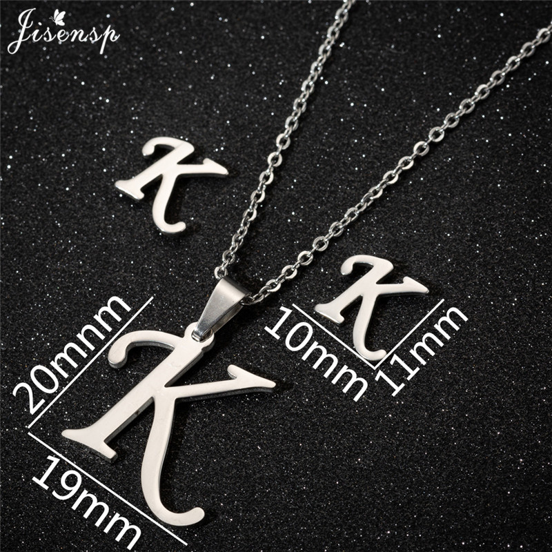 Jisensp Personalized A-Z Letter Alphabet Pendant Necklace Gold Chain Initial Necklaces Charms for Women Jewelry Dropshipping 22