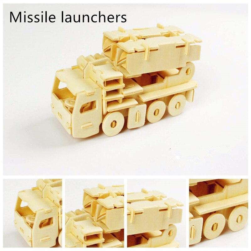 1 шт. 3D деревянные головоломки войны игрушки помогает развивать интеллект детей образования и детская пазл окружающей среды