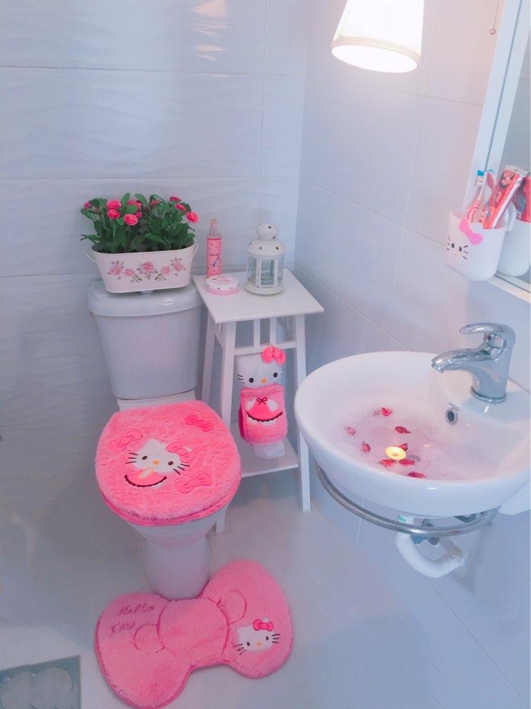 Online Shop Hello kitty bathroom set toilet set cover wc seat