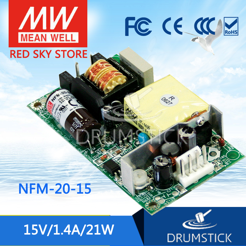Selling Hot MEAN WELL NFM-20-15 15V 1.4A meanwell NFM-20 15V 21W Switching Power Supply best selling mean well se 200 15 15v 14a meanwell se 200 15v 210w single output switching power supply