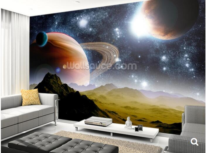 Custom children wallpaper,Deep Space Concept,3D cartoon mural for living room bedroom children's room wall PVC papel de parede custom papel de parede infantil space shuttle orbiting earth 3d cartoon mural for children room bedroom wall vinyl wallpaper