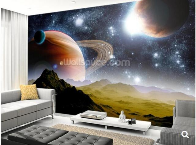 Us 29 0 Custom Children Wallpaper Deep Space Concept 3d Cartoon Mural For Living Room Bedroom Children S Room Wall Pvc Papel De Parede In Wallpapers