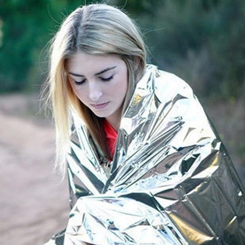 50pcs/lot Waterproof Emergency Survival Foil Thermal First Aid Rescue Blanket