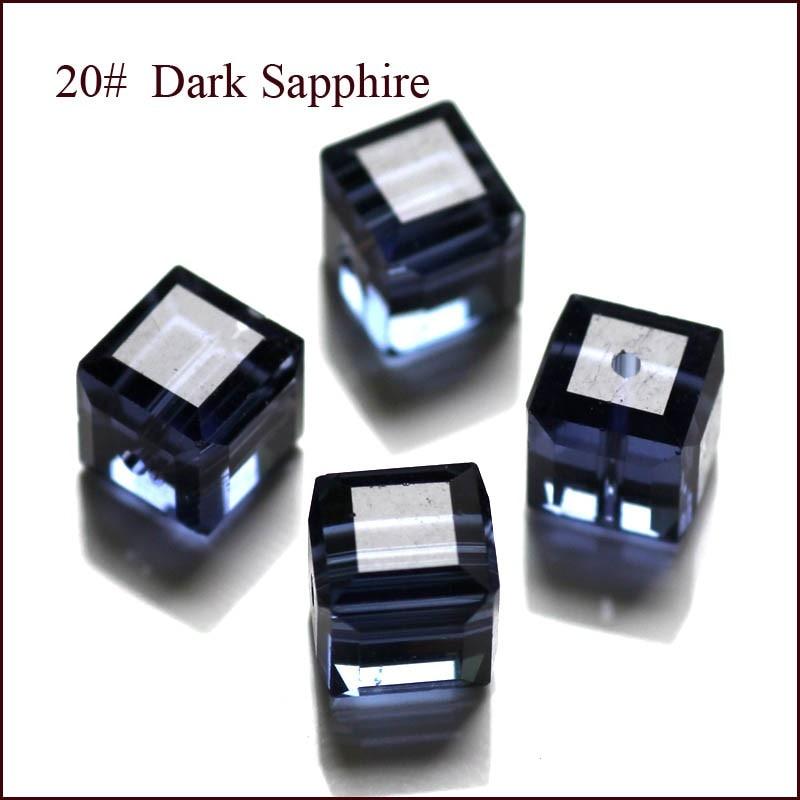 100 Teile / los Kristall Perlen 5601 Quadratwürfelform 8x8 MM 18 - Modeschmuck - Foto 2