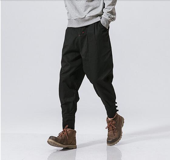 Coreano Hombres Casual Nueve ~ Cilindro gris Pantalones Haren Sueltos Plus Los 2019 navy Pares De Ropa Blue Oscuro Recto Black 5xl Tamaño M Algodón Ovxw4w