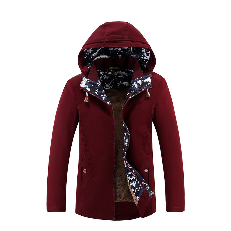 Men Winter Warm Jackets Fashion hood Men Cotton Filling Thickening Wadded Coat British S ...