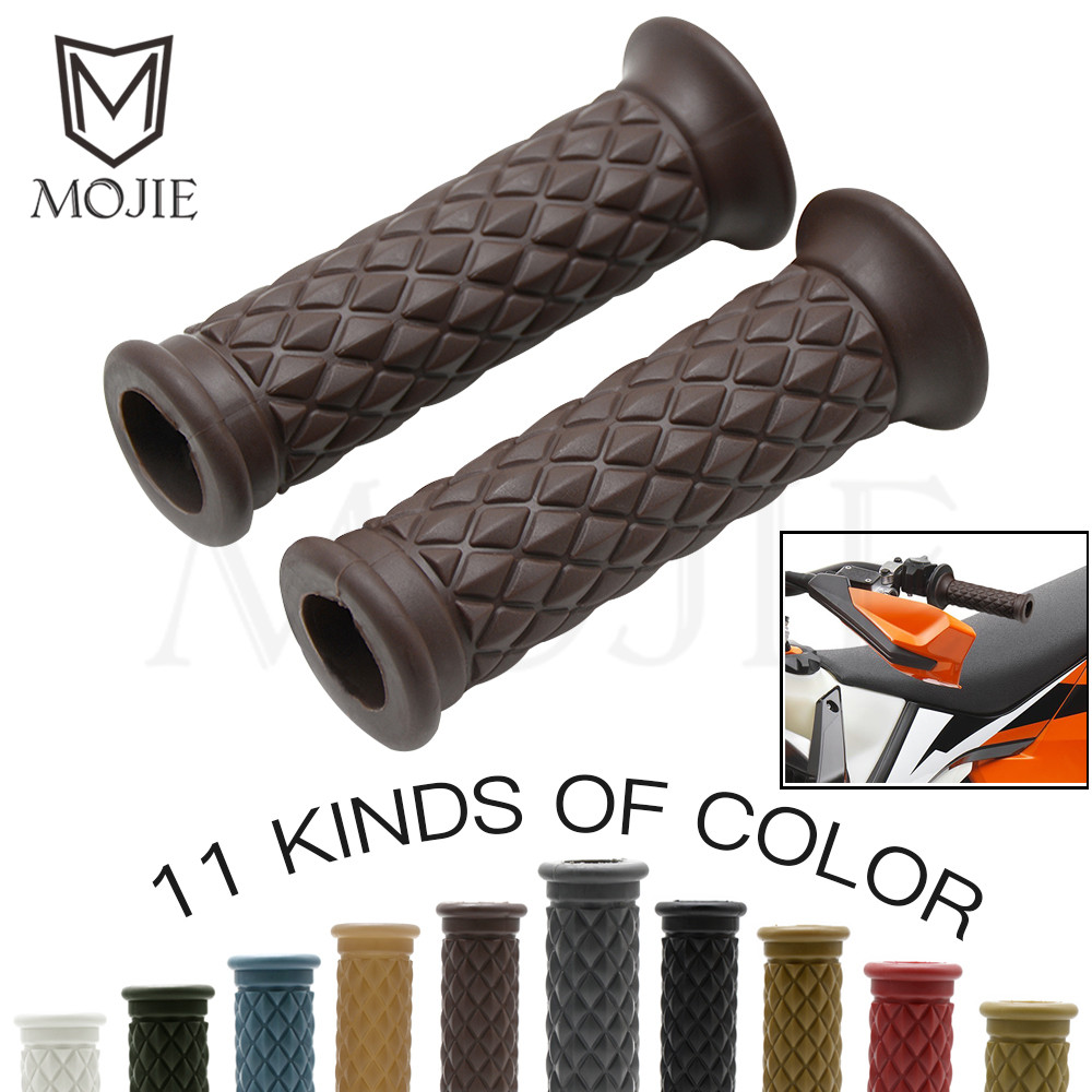Motorcycle Dirt Bike Rubber Hand Grip Bar Handlebar Grips Handle Bar For Honda Suzuki Kawasaki Triumph Cafe Racer Bobber Custom свитшот print bar dirt 4