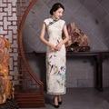 New Fashion Traditional Chinese Dress Women's Dobby Cotton Long Cheongsam Qipao Elegant Banquet Dress S M L XL XXL QD3150