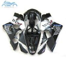 ABS Verkleidung kits für SUZUKI 2004 2005 GSXR 600 750 motorrad straße verkleidungen 04 05 GSXR750 GSXR600 K4 K5 schwarz west ZT10