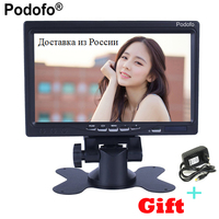 Podofo Computer TV Display CCTV Security Surveillance 7 LCD Screen Car Rear View Monitor HDMI VGA