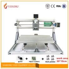 CNC 3018 500 mw/2500mw5500mw lazer GRBL kontrol Diy lazer gravür ER11 CNC makinesi, 3 Eksen pcb Freze makine, Ahşap Router 30×18