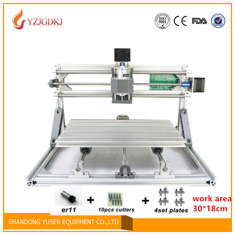 CNC 3018 500mw/2500mw5500mw laser GRBL control Diy laser engraving ER11 CNC machine,3 Axis pcb Milling machine,Wood Router 30x18 cnc 5axis a aixs rotary axis t chuck type for cnc router cnc milling machine best quality