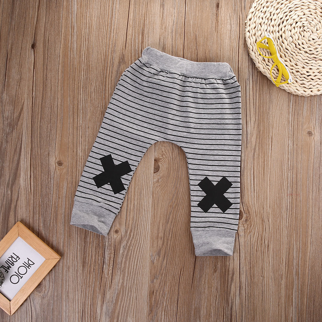 Infant-Baby-Boys-Girls-Striped-Bottom-Pants-Leggings-Harem-Pants-Trousers-0-2Y-5