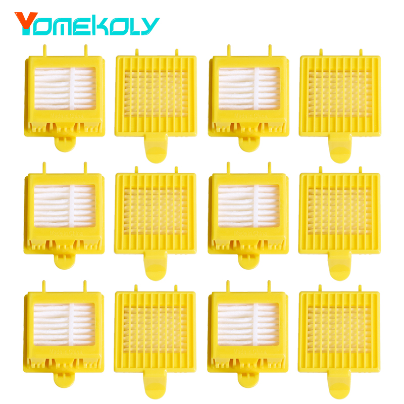 12pcs/lot Hepa Filter Clean Replacement Tool for iRobot Roomba 700 Series 760 770 780 790 Vacuum Cleaning Robots Parts bristle brush flexible beater brush fit for irobot roomba 500 600 700 series 550 650 660 760 770 780 790 vacuum cleaner parts