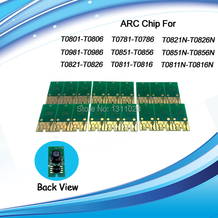 INK WAY T0781-T0786 T0771-T0776 Compatible auto reset chip ARC for Epson Artisan 50 R260 R380 R280 RX580 RX680 RX595,5 SETS