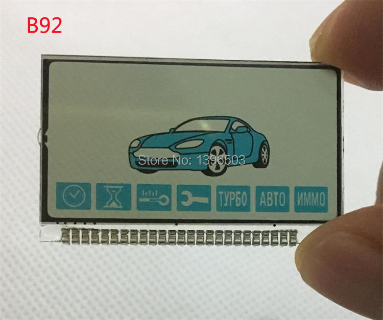 Wholesale Russian B92 Lcd Display For Starline B92 B94 Lcd Remote Control Keychain Key Chain Fob Two Way Car Alarm System