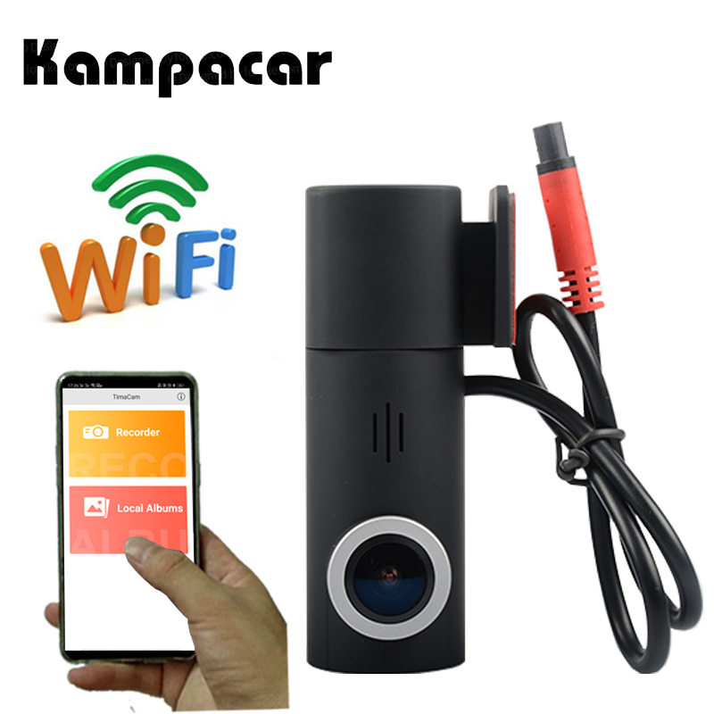 Kampacar видеокамера Novatek 96658 sony IMX323 Автомобильная камера Мини Wifi Автомобильный Dvr два объектива Wifi Dvrs Dual Dash Cam Автомобильный видеомагнитофон