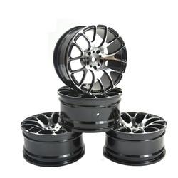4 sztuk obręcze kół ze stopu aluminium Fit HSP HPI Kyosho 1:10 na drodze samochód obręczy opony Części i akcesoria Zabawki i hobby -