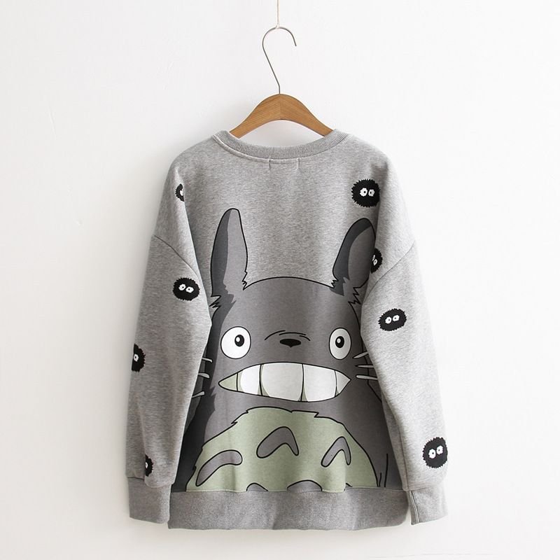 Totoro smile Long Sleeve Sweatshirt  1