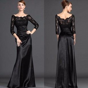Black-Mother-Of-the-Bride-Dresses-2015-Sheath-Scalloped-Neck-Floor-Length-Formal-Gowns-For-Wedding
