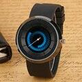 2017 Chegada Nova Blue Fire Turntable Quartz Watch Homens Mulheres Sports relógios de Pulso de Borracha de Silicone Relógios de Pulso Livremente Criativo