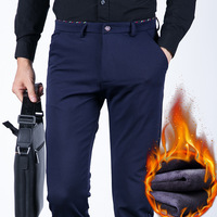 Winter Pants Men Fleece Warm Casual Thermal Pants Polar Velvet Fabric Thicke Large Yard 28 46